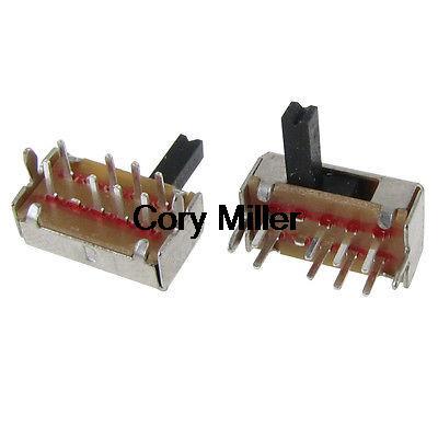 8 Pin 3 posiciones ON/ON 2P3T Panel PCB montaje Mini interruptor deslizante 90 grados