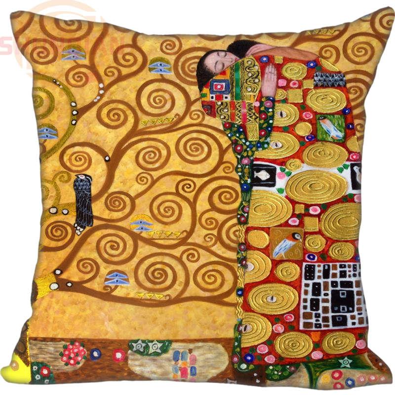 Funda de almohada personalizada el beso de Gustav Klimt cremallera 35x35cm 40x40cm 45x45cm 60x60cm funda de almohada de dos lados personalizada su imagen