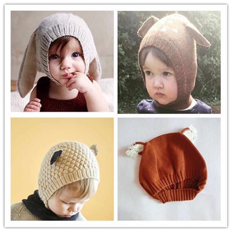 10 шт. оптовая продажа Осень зима унисекс милая вязаная шапка с животными для