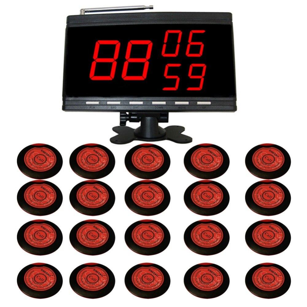 Беспроводная система вызова SINGCALL 20 красных пейджеров APE700 и 1 черный дисплей