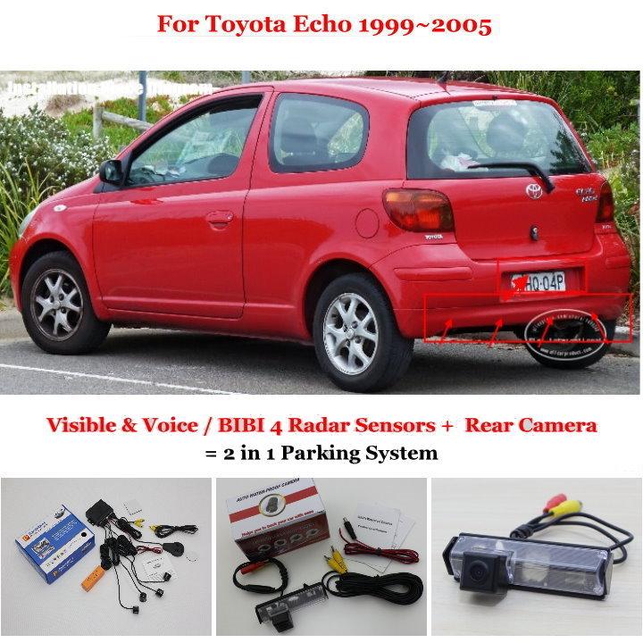For Toyota Echo 1999~2005 Car Parking Sensors Rearview Back Up Camera Sensor Reverse Auto Alarm Parking System