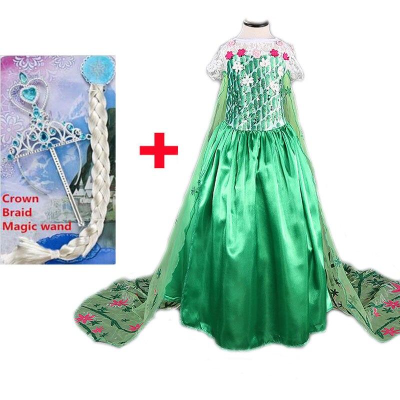 Vestido de Elsa para niñas, ropa de fiesta de reina de la...