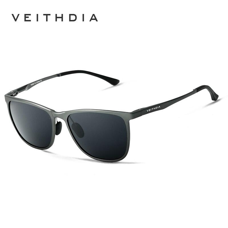 VEITHDIA Original Box Aluminum Magnesium Brand Designer Mens Sunglasses Polarized Lens Vintage Sun Glasses For Men gafas VT6623