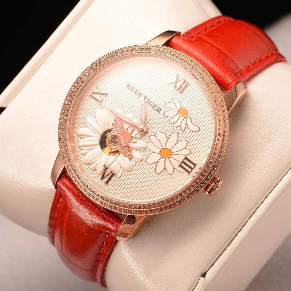 Reef  Tiger/RT Top Brand Luxury Women Watch Rose Gold Automatic Watch Clock Relogio Feminino Fashion Watch Reloje Mujer RGA1585 enlarge