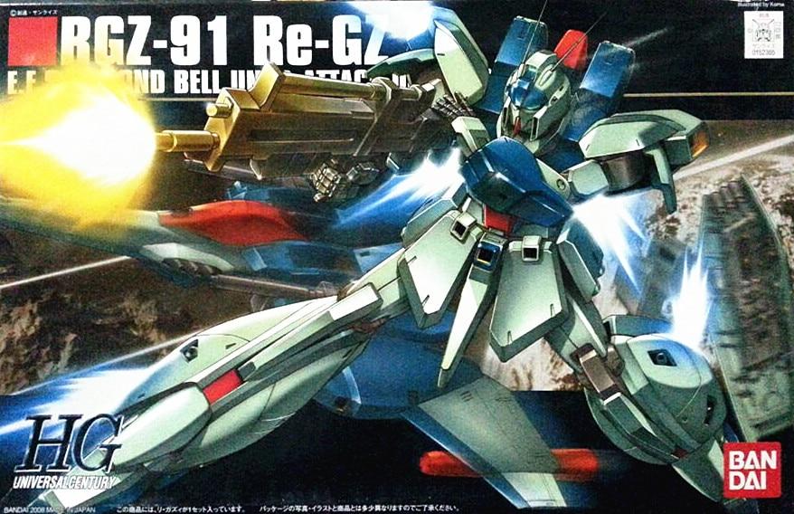Bandai Gundam HGUC 1/144 GZ-91 Re-GZ BWS Mobile Suit Assemble Model Kits Action Figures Plastic Model toys