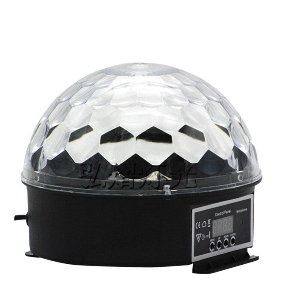 Luz led de efecto para escenario bola mágica de cristal Disco cambio de Color con música luz para escenario DJ fiesta estroboscopio iluminación en casa