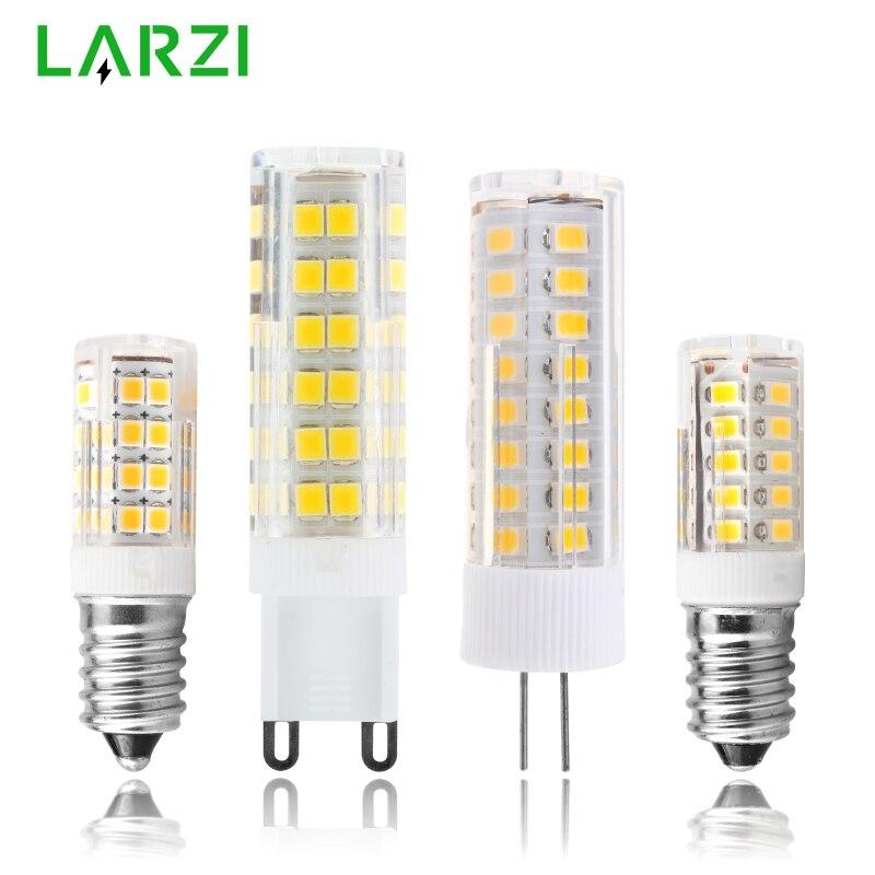Светодиодный светильник E14 G4 G9, 3 Вт, 4 Вт, 5 Вт, 7 Вт, мини светодиодный светильник переменного тока, 220 В-240 В, светодиодный светильник типа «Кукуруза», SMD2835, угол луча 360, замена галогенной люстры