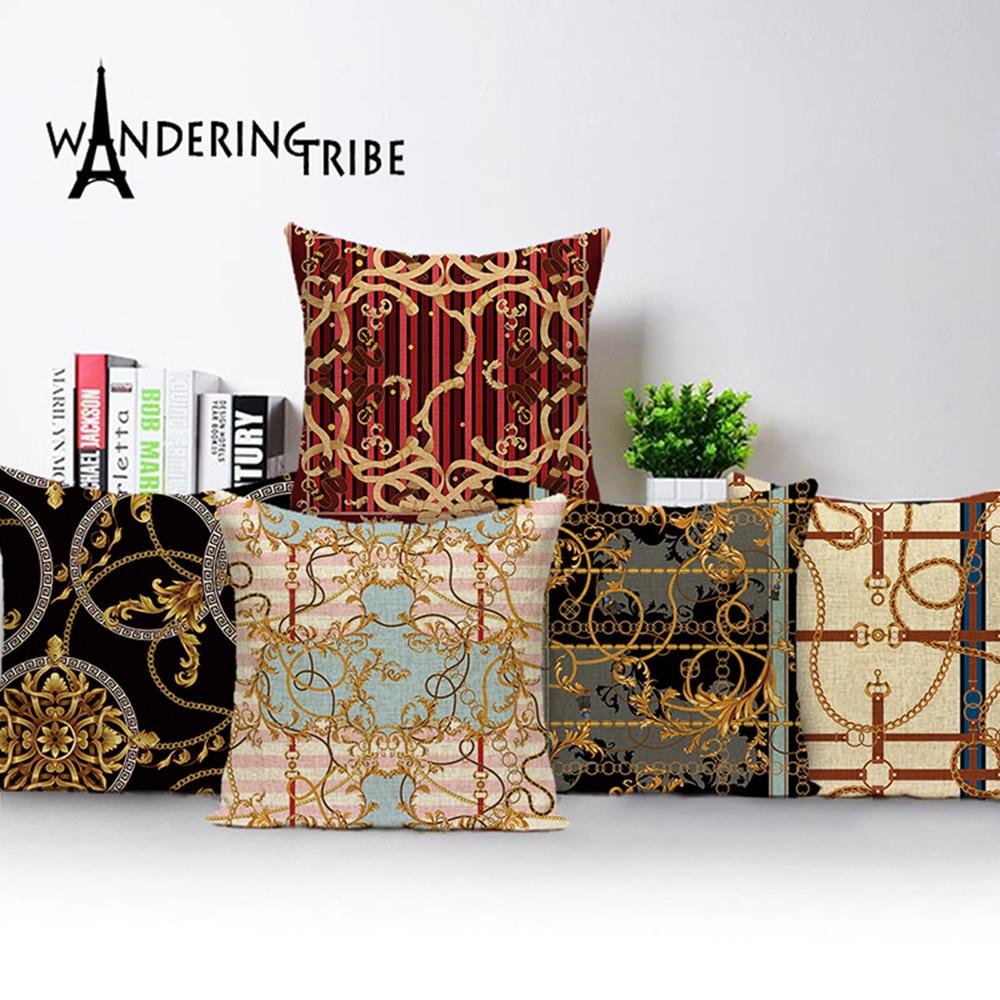 Rétro Mandala coussin couvre luxe maroc Jungle géométrique plante Boho jeter des oreillers Case ferme maison décor à la maison coussins