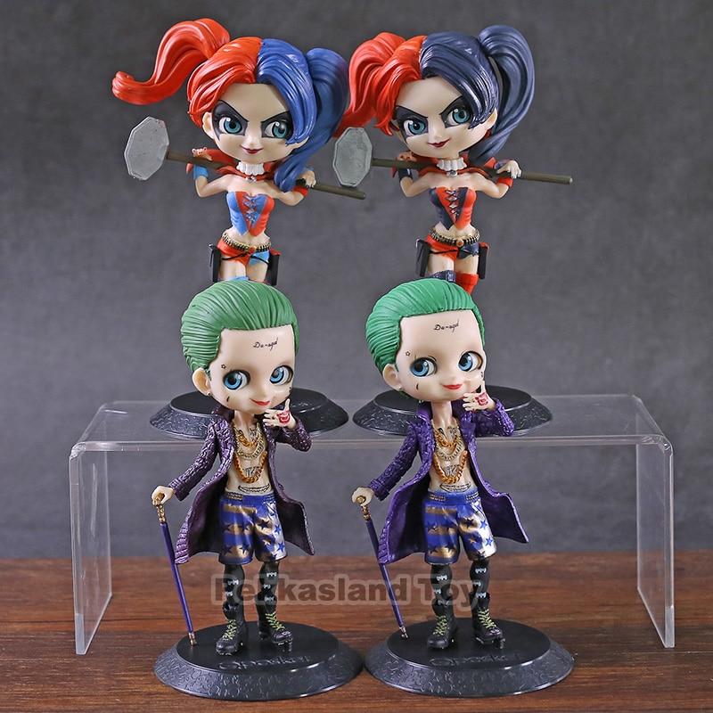 Q Posket DC suicidio escuadrón Joker / Harley Quinn PVC figura de juguete de modelos coleccionables Qposket muñeca