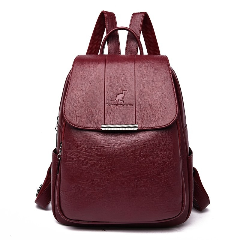 2020 Women Leather Backpacks High Quality Female Vintage Backpack For Girls School Bag Travel Bagpack Ladies Sac A Dos Back Pack