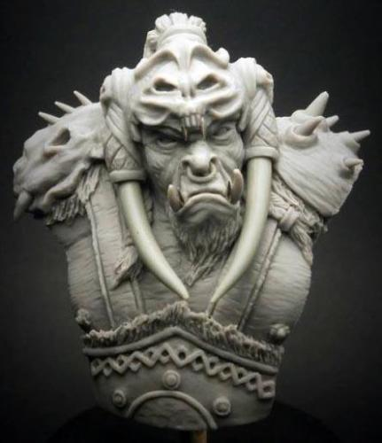 1/12 54mm fantasía 54mm Orc busto juguete resina Kit de miniaturas de modelismo Unassembly sin pintar