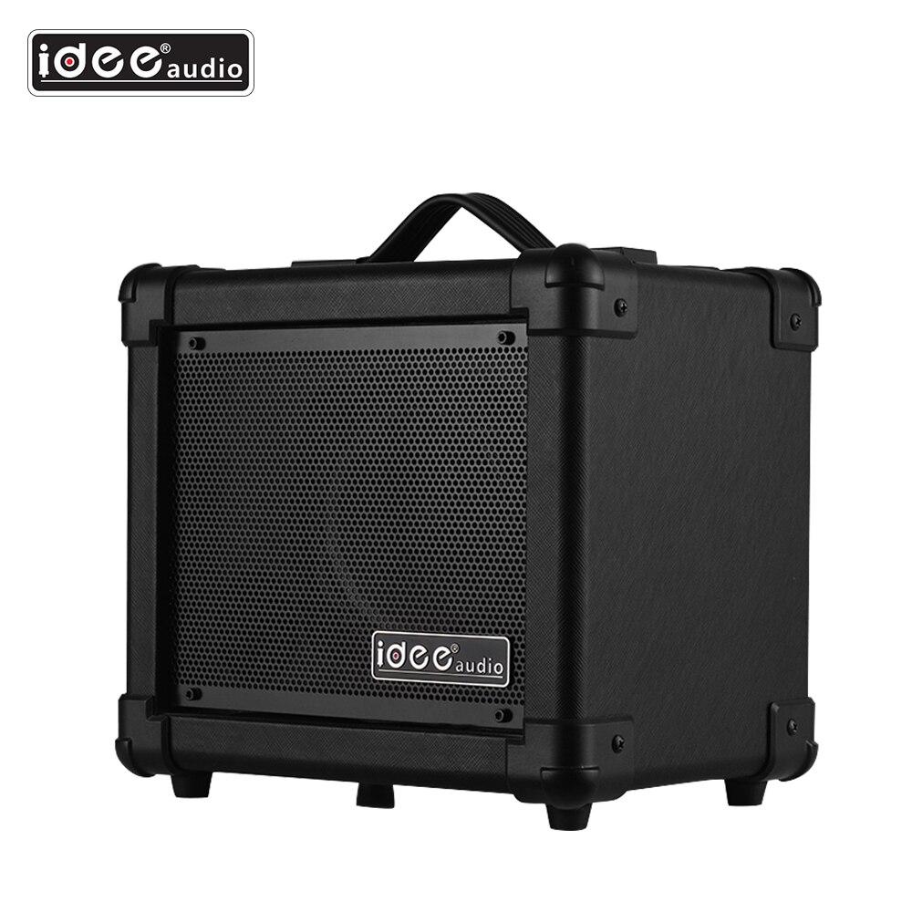 Amplificador de altavoz de guitarra eléctrica de escritorio portátil IDEEAUDIO AA-1 inalámbrico BT 10 Watt Combo Amp negro EU/UK/US /AU enchufe