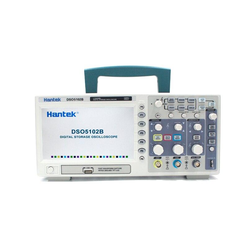 Hantek DSO5102B Oscilloscope Digital 2 Channel 100MHz USB Handheld Osciloscopio 1GSa/s Real time sample rate Record length 1M