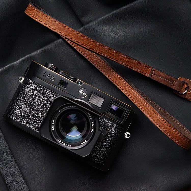 Mr.stone اليدوية جلد طبيعي شريط كاميرا كاميرا الكتف حزام حبل حزام الكتف غرامة (الجلود على الوجهين)