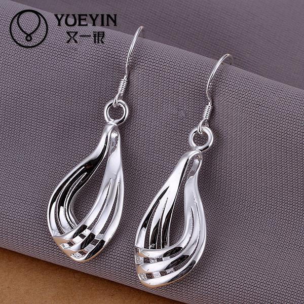 Fashion silver jewelry Dangle earrings for women wedding jewelry Long Earrings brincos Vintage High quality water drop earrings