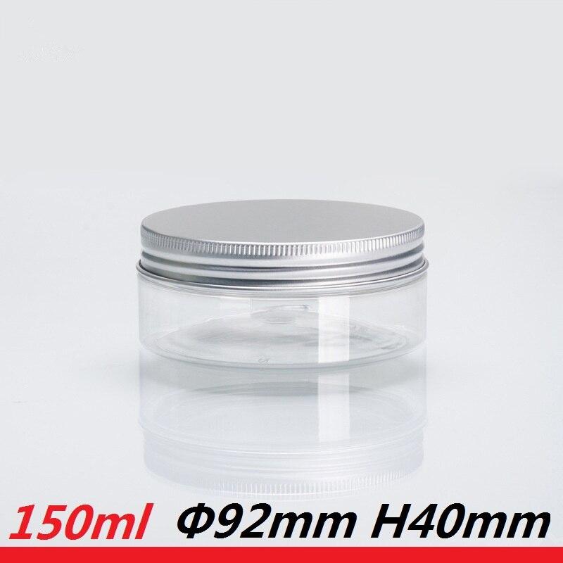 30pcs/lot 150g custom jar packaging 150ml PET plastic Tin 5oz Scrub Cream Container 89mm neck empty cream jar Transprent clear