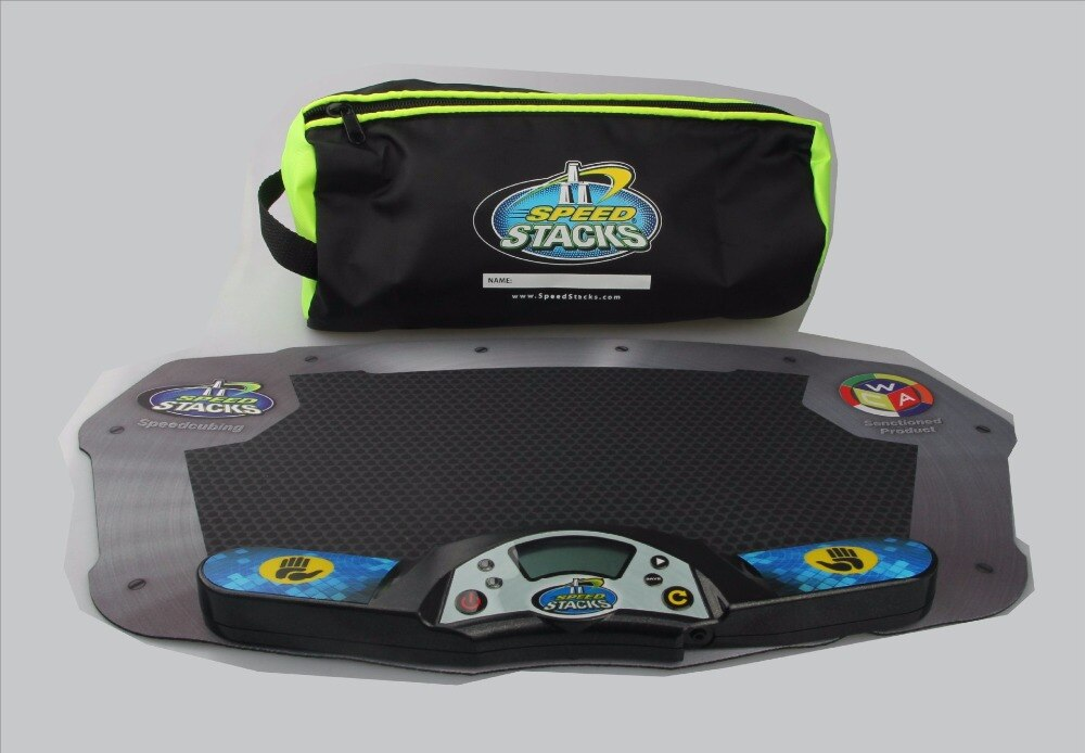 3 juegos/lote SS máquina de reloj temporizador profesional para puzle Cube accesorio para juego de competición Flying Stack Pack Mat