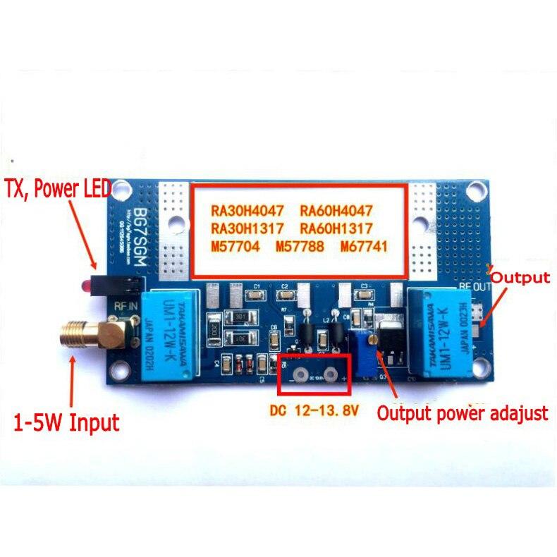 AMPLIFICADOR DE POTENCIA para radio max 70W para RA30H4047M RA60H4047M Mitsubishi Intercom Ham walkie-talkie radio