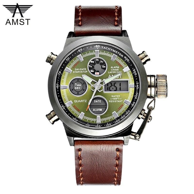 AMST 3003 Montre Homme natación buceo Digital LCD cuarzo deportes al aire libre relojes Relogio Masculino Reloj para Hombre Reloj Hombre