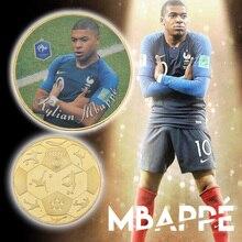 WR France nouveau défi pièces de monnaie or   Pièces de monnaie Kylian Mbappe pour Fans de Football, Collection de cadeaux commémoratifs