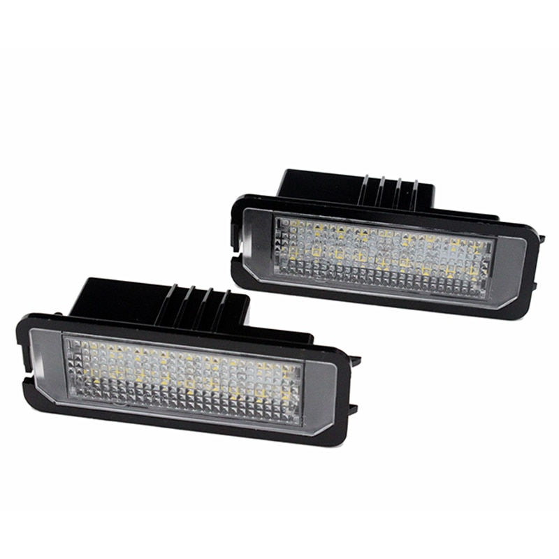2 unids/set HAUSNN incorporado Canbus Error blanco libre 18SMD LED número matrícula luces para Bently Mulsanne