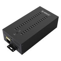 ORICO 30 Ports Industrial USB2.0 Hub for TF SD U-disk Data Test Batch Copy - Balck Multi-port charging