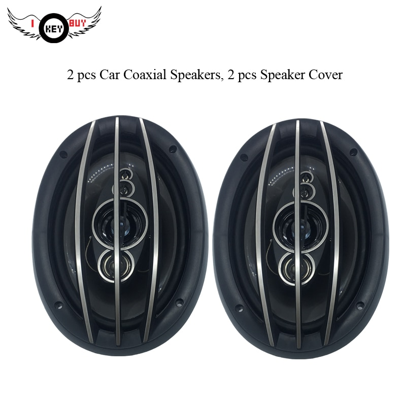 "1pair 6 x 9""  Car Louder Coaxial Speakers I KEY BUY Hi Fi end Auto 1200w 4 ohm Car Audio Acoustic Speaker Horn"