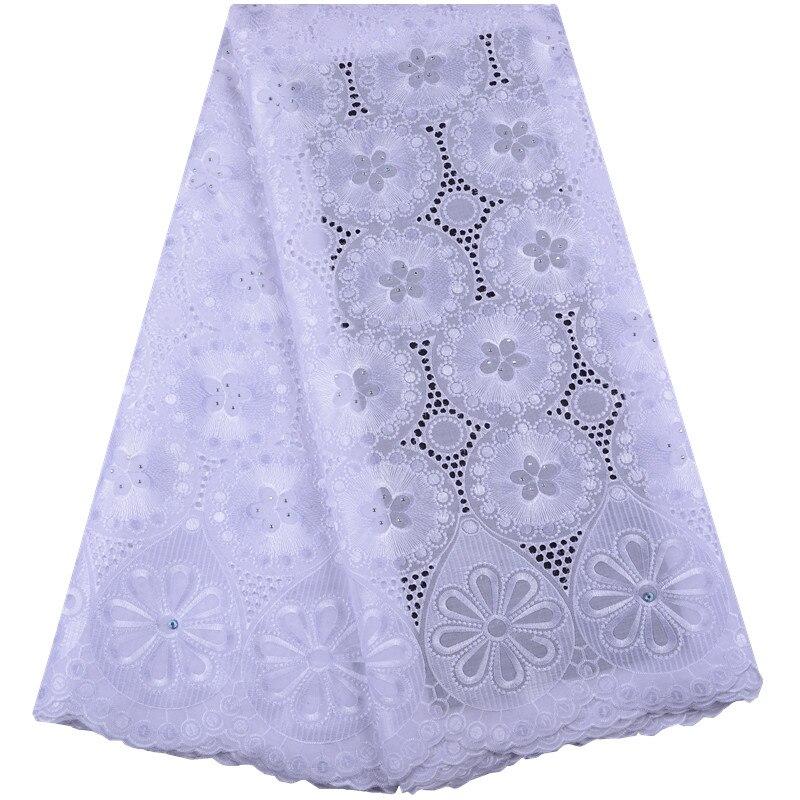 Женское кружевное платье, белое хлопковое платье из швейцарской вуали в африканском стиле, модель Y1467 высокого качества, 2019