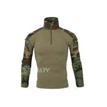 Men's Outdoor Hiking shirts Military Tactical Shirt Men Camouflage Long Sleeve T Shirt Camping Trekking Quick Dry