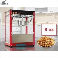 XEOLEO 8OZ Popcorn maker Electric American style popcorn machine Automatic hot oil popcorn maker Non-stick pot Toughened glass