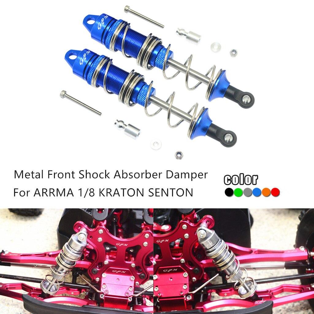 Amortiguador delantero de Metal GPM Racing 115mm para coche de orugas ARRMA 1/8 KRATON OUTCAST SENTON TYPHON RC