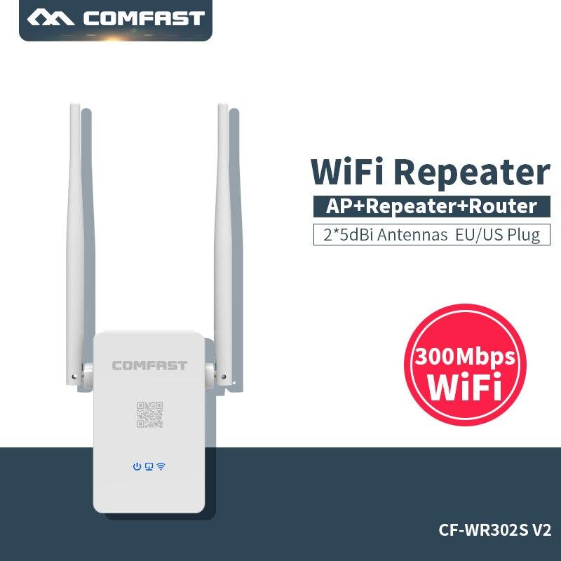 Comfast CF-WR302SV2 300Mbps אלחוטי בית wifi מהדר גשר אות booster מגבר 10dBi אנטנת wifi גישה נקודת repeate