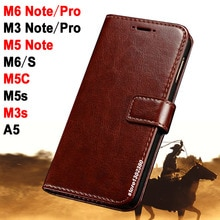 Meizu M5C case cover leather Crazy horse case voor Meizu M 5 Note case M5 Royal Meizu M6 Note M 6 Meizu M3 Note/Pro M5s m2 mini