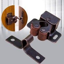 1Pcs Premium Double Ball Roller Catches Cupboard Cabinet Door Latch Hardware Stainless Steel Door Clip Kitchen