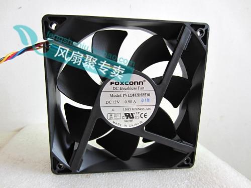 Nuevo FOXCONN original 12 cm pv123812dsfps NN495-01 a0014508006 120x120x38 mm4 ventiladores de refrigeración de línea