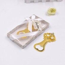 Abridor de botellas de cerveza de Metal de corona creativa favores y regalos personalizados para suministros de fiesta de boda