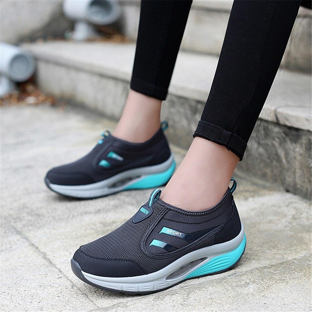 Nuevos zapatos de mujer transpirables superficie de malla gruesa inferior deportes ocio aire cojín zapatos de moda zapatos de mujer
