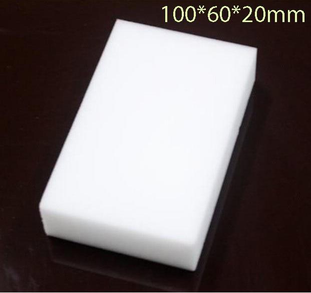 20 unids/lote esponja mágica de melamina 100*60*20mm Borrador de limpieza esponja multifuncional sin bolsa de embalaje
