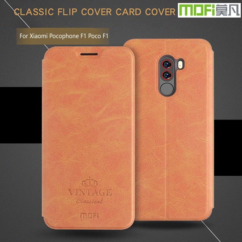 Mofi For Xiaomi Poco F1 Case Luxury Flip Leather Stand Case For Xiaomi Pocophone F1 Poco F1 Cover Book Style Cell Phone Cover