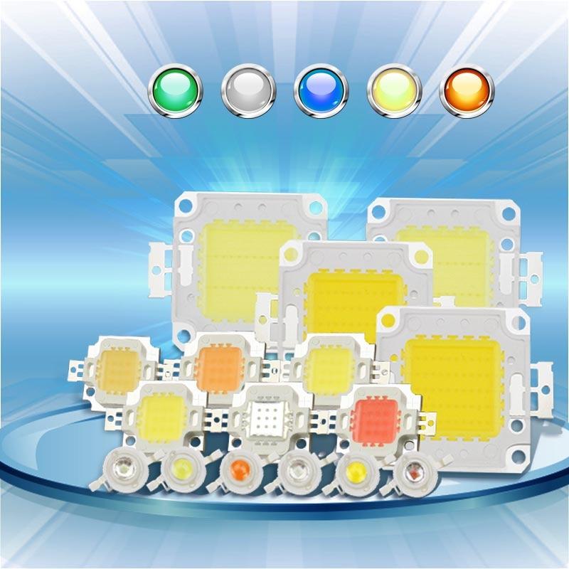 Светодиодный чип высокой мощности, 1 Вт, 3 Вт, 5 Вт, 10 Вт, 20 Вт, 30 Вт, 50 Вт, 100 Вт, COB светодиодный чип, натуральный белый, 4000-4500 K для DIY светодиодного ...