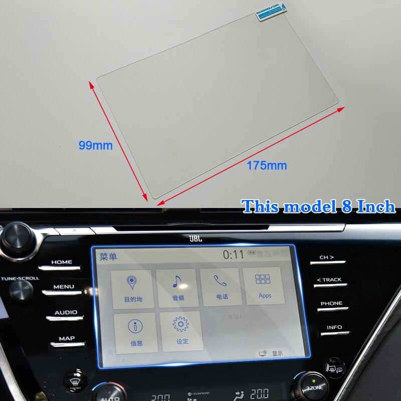 QCBXYYXH para Toyota Camry 2007-2019 estilo de coche para pantalla de navegación GPS protector de vidrio película Pantalla de salpicadero película protectora