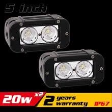 5 inch 20W LED Work Light Bar for ATV Motocycle 12v 24v LED Bar Offroad 4X4 LED Work Light Fog Light Seckill 18w 27w