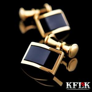 KFLK 2020 Luxury HOT shirt cufflinks for mens Brand cuff buttons Gold Chain cuff link High Quality wedding abotoaduras Jewelry