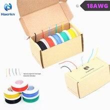 Câble électrique en Silicone 18 awg 0,82mm2   Câble 5 couleurs (4 mètres) kit électronique en cuivre étonné Flexible et pour le bricolage