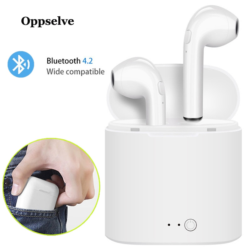 Oppselve i7s TWS Bluetooth Earphone Stereo Earbud Wireless Headphones With Charging Box Mic Sports Headsets For All Mobile Phone enlarge