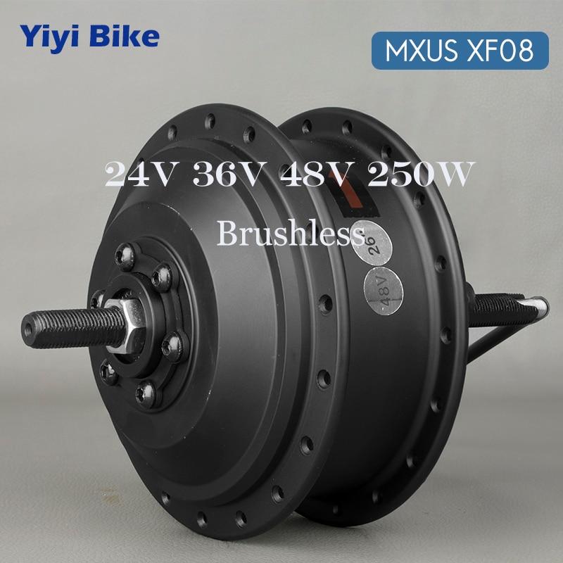 "MXUS 24V 36V 48V 250W BLDC Brushless Gear Hub Motor For 26"" 28"" Wheel Drive Electric Bike Conversion Kit Engine Parts Wholesale"