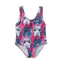 Maillot de bain une pièce pour garçons   Rose rouge, pour nouveaux nés, pour filles, vêtements de plage 0-3T