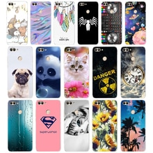 W Huawei P Smart Case TPU Soft Silicone Transparent Back Cover Phone Case Huawei P Smart Cover FIG-LX1 Enjoy 7S Case