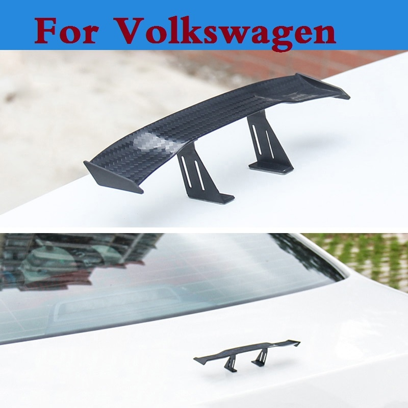 Авто хэтчбек GT задний спойлер крыло Авто наклейки для Volkswagen Polo GTI Polo R WRC Scirocco R Tiguan Touareg up XL1