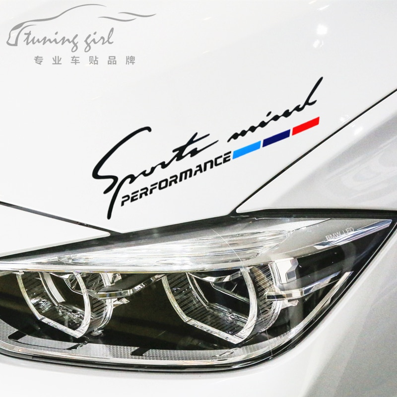 Car Stickers Performance Sports Mind Funny Creative For BMW Head Auto Tuning Styling 28x8cm D10 etie car styling sports mind produced by m performance power sticker